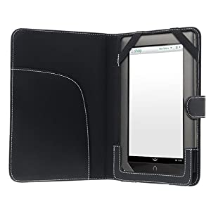 eForCity Leather Case for Barnes and Noble Nook / Nook Color, Black