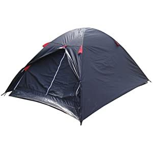 Azuma 2 Man Black / Red Double Skin Summer Festival Camping Outdoor Dome Tent