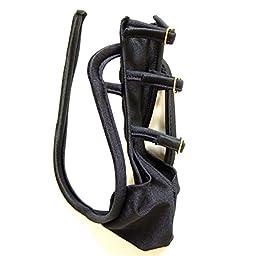 WenMei Men\'s Sexy C-string Low Rise Thong Underwear Adjustable Buckles Black
