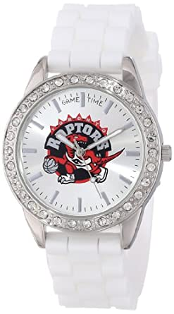 Game Time Ladies NBA-FRO-TOR Frost NBA Series Toronto Raptors 3-Hand Analog Watch by Game Time