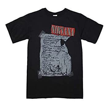 Unique Vintage Nirvana Milan Set List T-Shirt High Quality