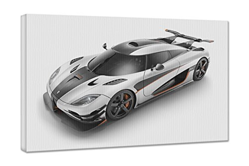 2014 Koenigsegg Agera One 1 18X24 Gallery Wrapped 3/4
