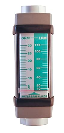 Hedland Flowmeter, Aluminum, For Use With Water-Based Fluids, NPT Female