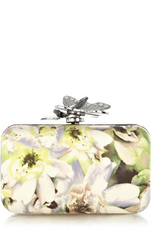 Painterly Floral Clutch
