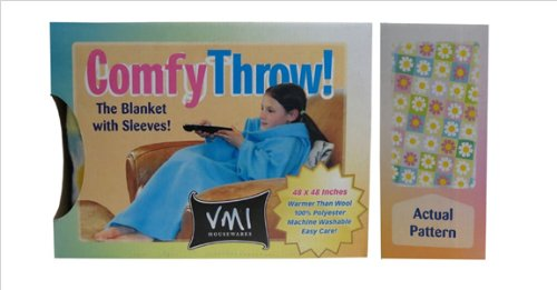 Vmi Kids Comfy Throw, Flowers front-953317