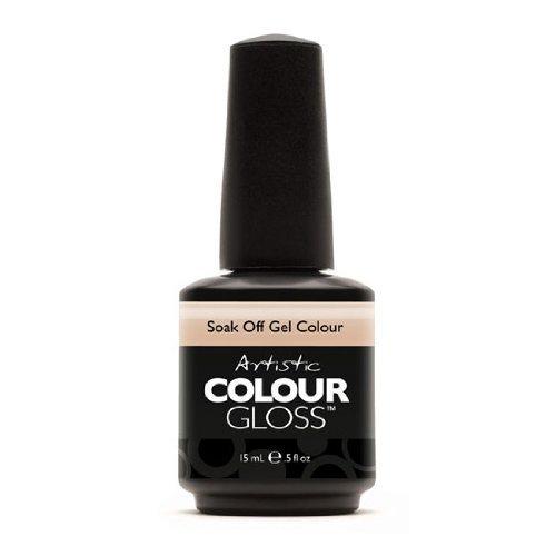Artistic Nail Design Soak Off Colour Gloss Gel Taupe Beige Polish 03044 Naked