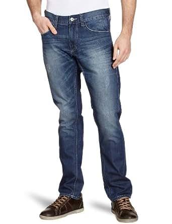 MUSTANG Jeans Herren Jeans Niedriger Bund 3168-5184, Gr. 28/32, Blau (strong used wash 075)