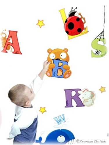 Kids Room Animals Letters Alphabet Wall Mural Sticker