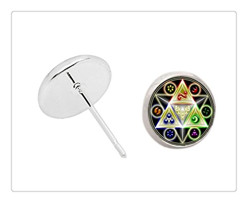 Fashion Legend of Zelda Triforce Earrings for women Stud silver earring