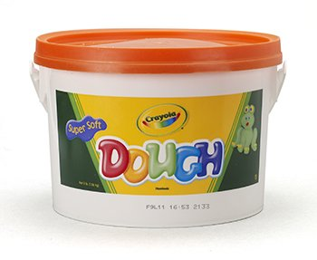 8 Pack CRAYOLA LLC FORMERLY BINNEY & SMITH MODELING DOUGH 3LB BUCKET ORANGE