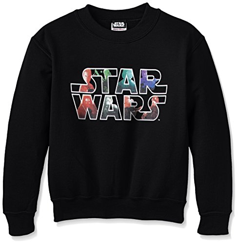 Star Wars - Star Wars Vii The Force Awekens Heroes And Villains Logo, Felpa per bambini e ragazzi, nero (black), Medium