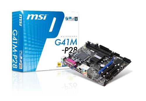 MSI G41M-P28 LGA 775 Intel G41 1 PCIEx16/1 PCIEx1/1 PCI Micro-ATX Motherboard