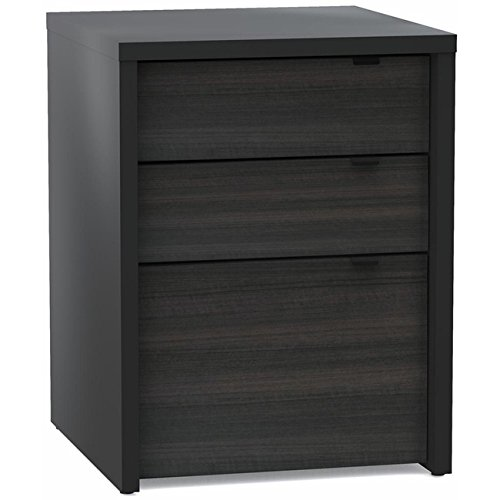 Modern Black Three Drawer Filing Cabinet