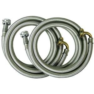 3/4 in. x 3/4 in. x 72 in. Stainless Steel Washing Machine Connectors (2-Pack)