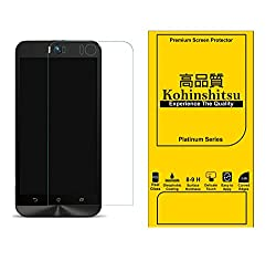Screen Protector for Asus Zenfone Selfie ZD551KL-2B507IN Mobile Phone - Kohinshitsu Tempered Glass Screen Guard for Zenfone Selfie / Asus Selfie (Platinum Series)