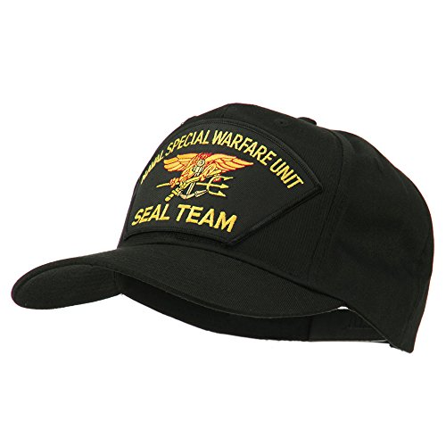 Us Navy Seal Team Warfare Patch Cap - Black Osfm