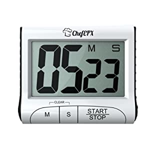 Digital Kitchen Timer with Magnet - Heavy Duty With Large Display, Loud Alarm, Magnetic... by ChefEFX