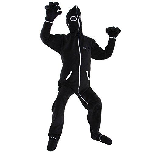 BIBILAB(ビビラボ) 人型寝袋 フリース EH-BLACK-L 【ニュータイプ着る毛布】