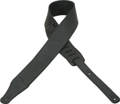 Levy's M26BLBLK 2.5-inch Leather Guitar Strap  Black