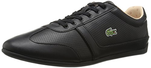 Lacoste Women's Missano Sport PIQ3 Fashion Sneaker, Black, 7 M US
