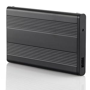 """2,5"""" Externes Gehäuse USB 3.0 für SATA Notebook Festplatten und passend für jede SSD - Schwarz - stabiles Aluminium - optimale Kühlung"""