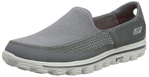Skechers - Go Walk 2, Scarpe da uomo, colore Grigio (Charcoal), taglia 45