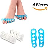 BESKIT Toe Separators Kits - 4 Piece Of Medical Silicone Toe Stretchers And Toe Spacers For Yoga, Toe Straighteners...