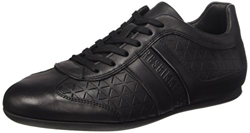 Bikkembergs Springer 99 L.Shoe M Leather Scarpe Low-Top, Uomo, Nero, 42