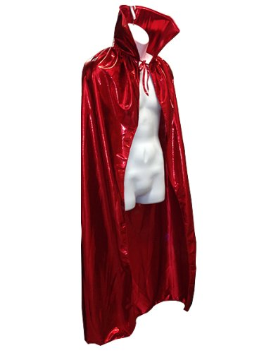 "Luchador Adult Size 54"" Metallic Halloween Costume Cape Top Quality - RED"