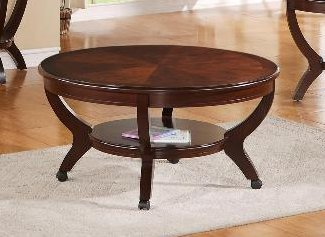 Brownstown Round Coffee Table in Brown by Crown Mark