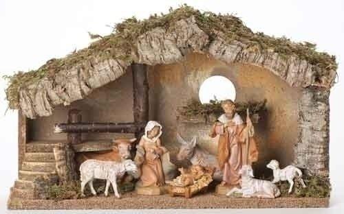Fontanini Fontanini 5 Inch Nativity Figure With Italian Stable Set Of 8 Home Decor
