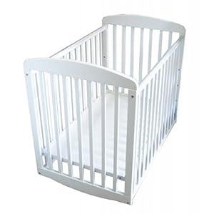 """Athena Mya Mini Crib - White (White) (40""""W x 34""""H x 26""""D)"""