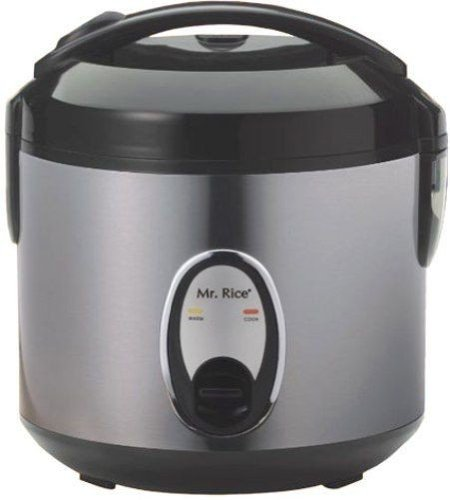 Sunpentown Home Indoor Kitchen 4-Cups Rice Cooker With Stainless Body