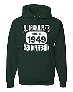XX-Large Forest Green Adult Made In 1949 All Original Parts Aged To Perfection Sweatshirt Hoodie
