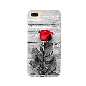 RICKYY _ip7 Plus_1293 Printed Matte designer Red Rose case for Apple iPhone 7 Plus