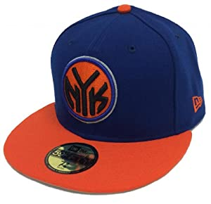 New Era 59Fifty NBA New York Knicks Blue & Orange Fitted Cap by New Era
