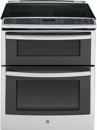 "GE PS950SFSS Usefulness 30"" Stainless Steel Electric Slide-In Smoothtop Double Oven Range - Convection"