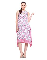 Printed Asymmetric Dress Small