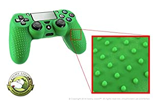 Playstation 4 STUDDED Controller Skin by Foamy Lizard ® (CYBER MONDAY SALE!) ParticleGrip (Individual) Premium Protective Anti-slip Silicone Grip Case Cover For Wireless PS4 Controller (Photon - Green)