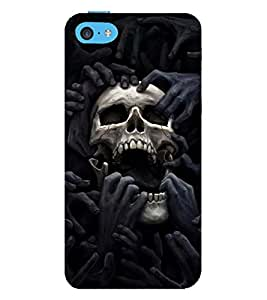 Vizagbeats Skull in Pain Back Case Cover for Apple iPhone 6