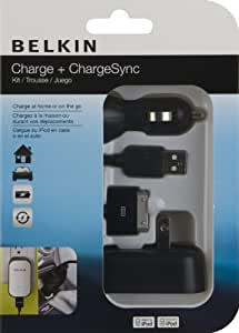 Belkin USB Charging Kit with Wall Charger and Car Charger for Apple iPod (Black)