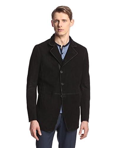 John Varvatos Collection Men's Asymmetric Suede Jacket