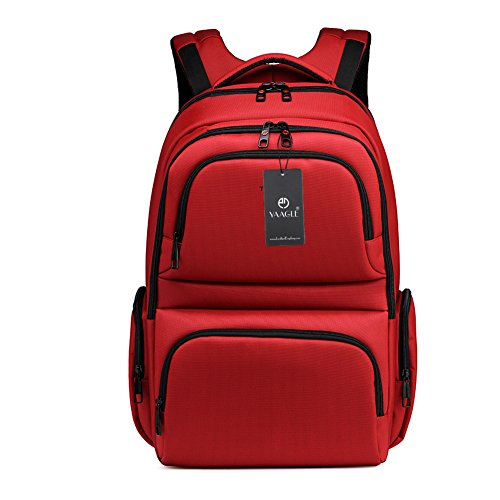 YAAGLE Mens Womens Teenagers Simple Casual Day Pack Business Travel Backpack 15.6-inch Laptop Backpack Rucksack Schoolbag Red Orange Green Grey Coffee