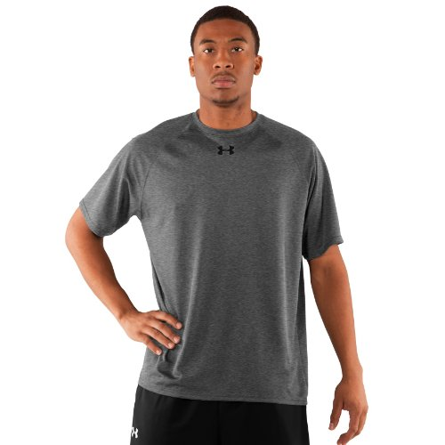 Men's HeatGear® Team Loose Shortsleeve T-Shirt Tops by Under Armour Extra Extra Large Medium Gray Heather