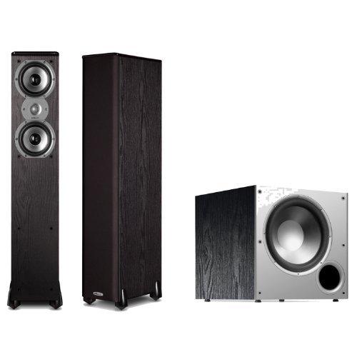 Polk Audio Tsi300 Floorstanding Speakers (Pair) With A Polk Audio Psw10 10-Inch Powered Subwoofer Bundle!