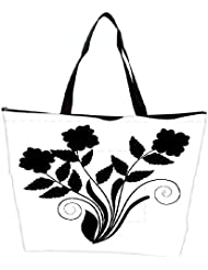 Snoogg Abstract Silhouette Of Decor Floral Elements Waterproof Bag Made Of High Strength Nylon