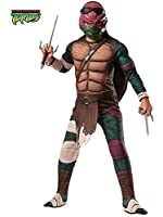 Rubies Teenage Mutant Ninja Turtles Deluxe Muscle-Chest Raphael Costume from Rubies