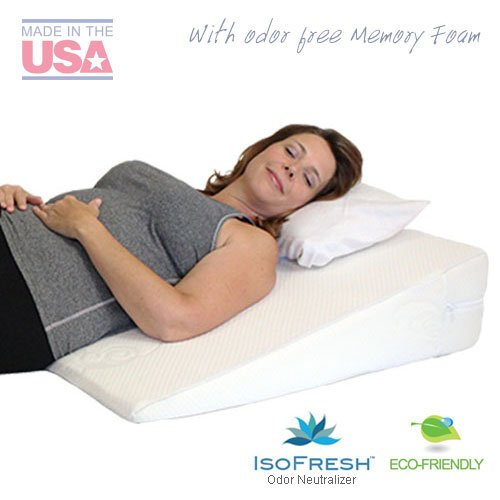 MedSlant Acid Reflux Wedge Pillow with Memory Foam, 32 X 30 X 7 - Inch