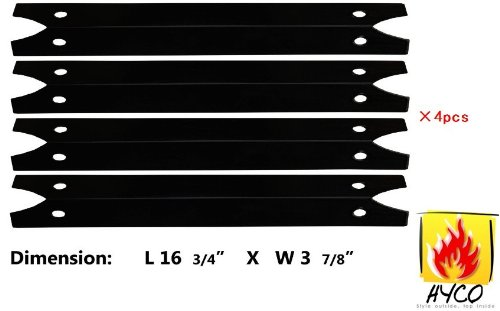 Hyco hy97311 (4-pack) Porcelain Steel Heat Plate Replacement for Select Gas Grill Models by Brinkmann, Charmglow and Others