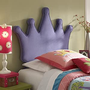 Princess Crown Twin Size Headboard by AtHomeMart